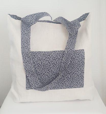sac lin blanc