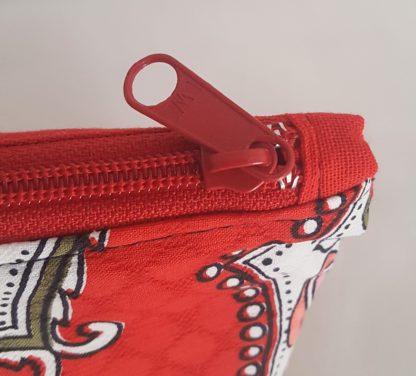 trousse rouge zip